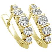 Diamant-Ohrring