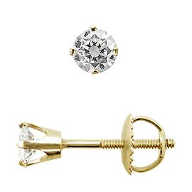 Diamantschmuck - Brilliant Ohrstecker Crown 18KT Gelbgold