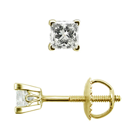 Diamant Ohrstecker Scrollwork 18KT Gold