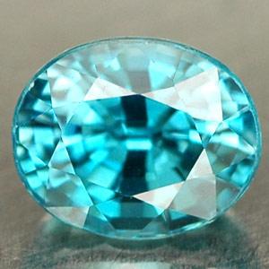 Edelstein Zirkon oval blau